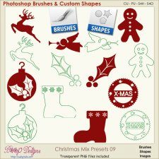 Christmas Brush & Shape PRESETS 09