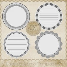 Layered Journal Templates 7 by Josy