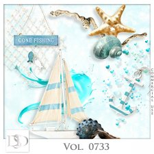 Vol. 0733 Summer Sea Mix by D's Design