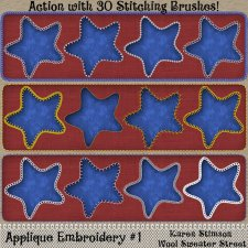 Embroidery Stitching Actions by Karen Stimson