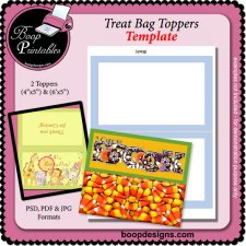 Bag Topper - TEMPLATE by Boop Printable Designs