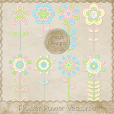 Flower Power Layered Vector Templates 1 by Josy