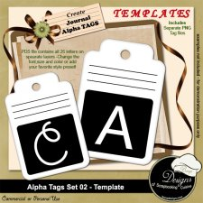 Alpha Tags Set 02 TEMPLATE by Boop Designs