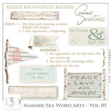 Summer/Sea Word Arts Vol 05 by D's Design