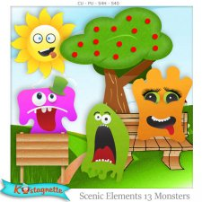 Scenic Elements 13 Monsters by Kastagnette