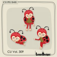 CU Vol 309 Ladybug Pack 6 by Lemur Designs