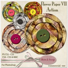Action - Paper Flower VII by Rose.li