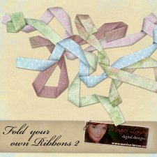 Fold your own ribbons 2 Action by Monica Larsen