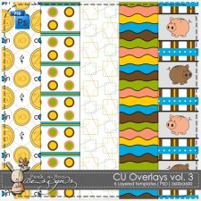 Overlay Pattern Paper Template 03 by Peek a Boo Designs