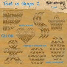 Text in Shapes 2 by Mandog Scraps