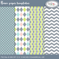 Basic paper templates Lilmade Designs