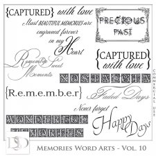 Memories Word Arts Vol 10 by D's Design