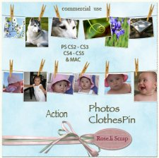 Action - Photos Clothesline by Rose.li