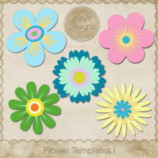 Flower 1 Layered Templates by Josy