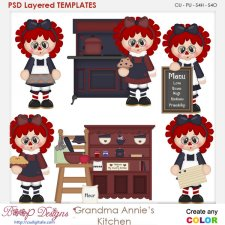 Grandma Annie's Kitchen Layered Element Templates