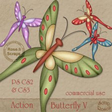 Action - Butterfly V by Rose.li