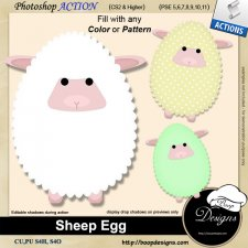 Sheep Egg ACTION by Boop Designs