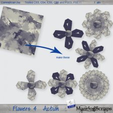 Flowers 4 Action by Mandog Scraps