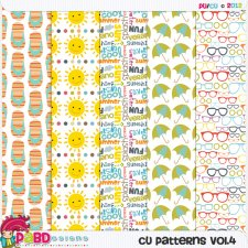 Summer Pattern Template Paper vol 04 by Peek a Boo Designs