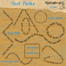 Text Paths by Mandog Scraps