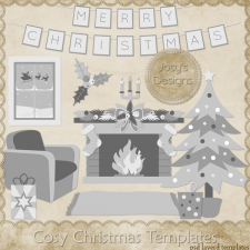 Cosy Christmas Layered Templates by Josy