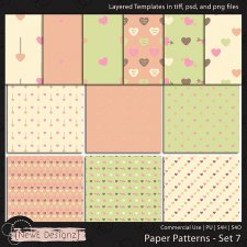 EXCLUSIVE Layered Paper Patterns Templates Set 7 by NewE Designz