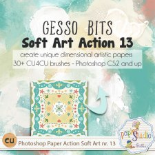 Action Soft Art 13 - Gesso Bits by PapierStudio Silke
