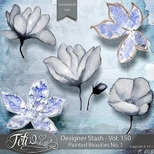 Designer Stash Vol 150 - Painted Beauties No 1 by Feli Designs