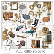 Vol. 0886 to 0890 Vintage Mix by D's Design