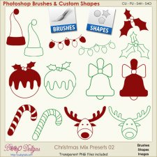 Christmas Brush & Shape PRESETS 02