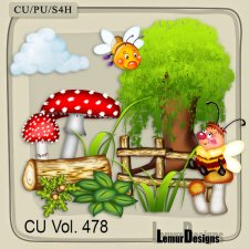 CU Vol 478 Summer Forest Flowers by Lemur Designs
