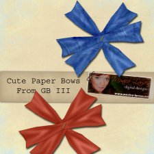 Cute Paper Bow Action by Monica Larsen