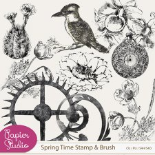 Spring Time Stamps by PapierStudio Silke