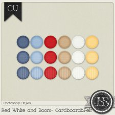 Red White and Boom Cardboard and Felt PS Styles by Just So Scrappy