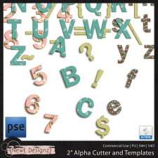 "EXCLUSIVE PSE 2"" Alpha Cutter and Templates by NewE Designz"