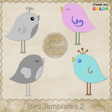 Bird Layered Templates 2 by Josy