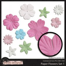 EXCLUSIVE Paper Flowers Set 1 by NewE Designz