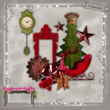 Vol 76 Christmas elements EXCLUSIVE byMurielle