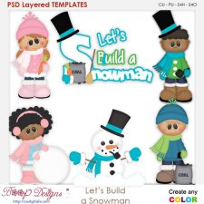 Lets Build A Frosty Snowman Layered Element Templates