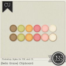 Bella Grace Chipboard PS Styles by Just So Scrappy