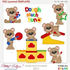 Play Clay Fun Bears Layered Element Templates