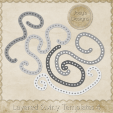 Layered Swirly Templates 4 by Josy