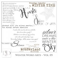Winter Word Arts Vol 05 by D's Design