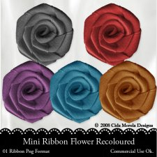 Mini Ribbon Flower by Cida Merola