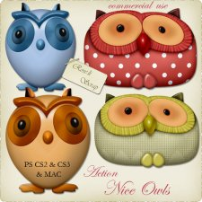 Action - Nice Owls by Rose.li