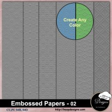 Embossed Pattern PAPERS 02 by Boop Designs
