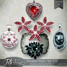 Designer Stash Vol 170 - Jewels and Gems No. 1 - by Feli Designs
