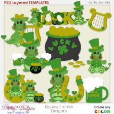 Kiss Me Irish Dragons Layered Templates
