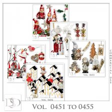 Vol. 0451 to 0455 Winter Christmas Mix by D's Design