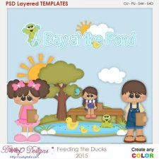 Feeding the Ducks at the Park Layered Element Templates